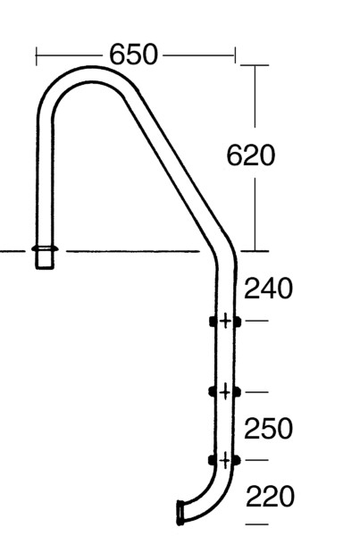 Tiefbeckenleiter LUXUS