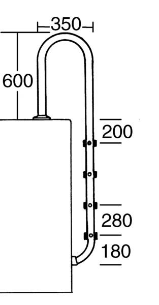 Tiefbeckenleiter INA, 4-stufig