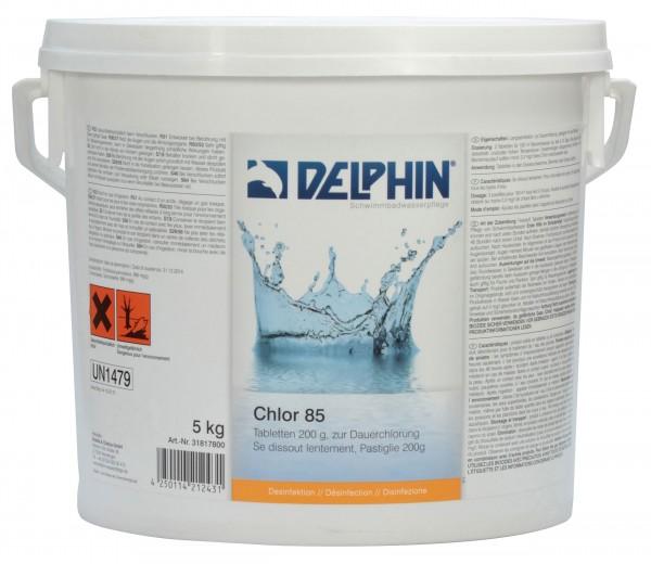 DELPHIN Chlor 85 Tabletten 200 g, 5 kg Eimer