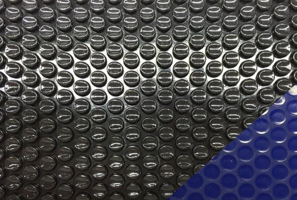 Luftpolsterfolie blau/schwarz