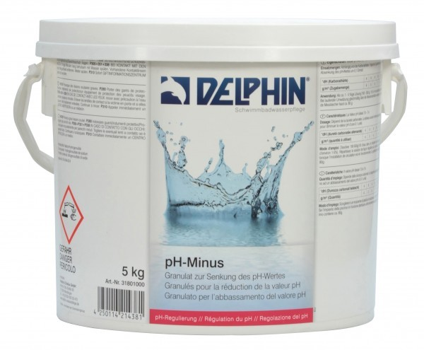 DELPHIN pH-Minus Granulat, 5,0 kg